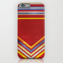 Stripes and Chevrons Ethic Pattern iPhone Case
