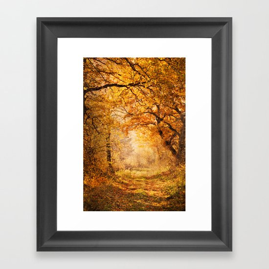 autumnal walk Framed Art Print