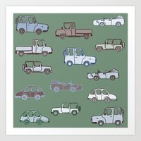cars Art Prints featuring Cars  by Nadezhda Alkimovich
