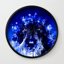 wire haired dachshund dog wsdb Wall Clock