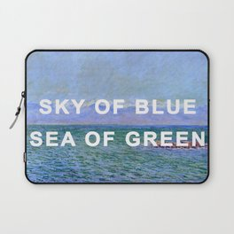The Sea and the Alps in a Yellow Submarine Laptop Sleeve