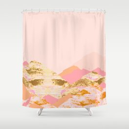 Graphic Mountains S Shower Curtain