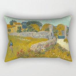 Vincent van Gogh - Farmhouse in Provence Rectangular Pillow