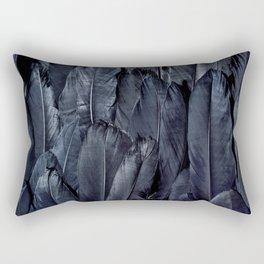 Mystic Black Feather Close Up Rectangular Pillow