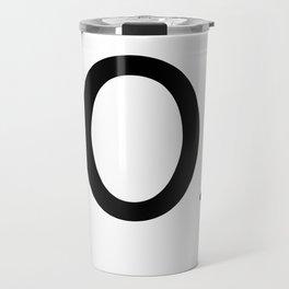 Letter O - Custom Scrabble Letter Tile Art - Scrabble O Initial Travel Mug