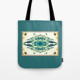 blue grass mosaic Tote Bag