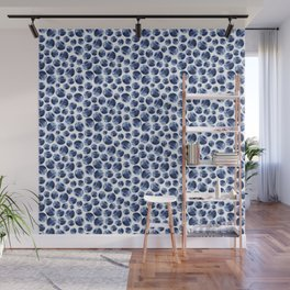Blueberries Pattern Wall Mural