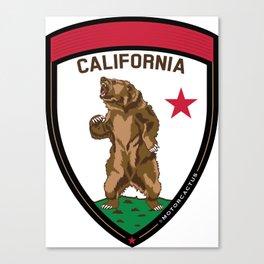 California Bear Badge Canvas Print