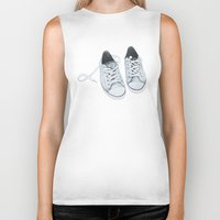 converse Biker Tanks featuring Converse by BlendByEli