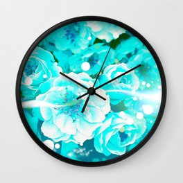 THE ENERGY OF FLOWERS Wall Clock