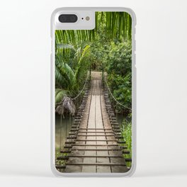 Bridge to Paradise - Costa Rica Clear iPhone Case