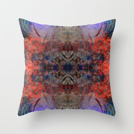 Concrete Blossoms Throw Pillow