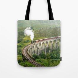 Hogwart Express steam engine in the scottish highlands Tote Bag