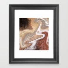 Mars Marble Framed Art Print