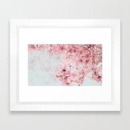 Meshed Up Sakura Blossoms Framed Art Print