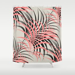 Flamingo Fling - Abstract Shower Curtain