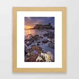 Spectacular sunrise at Kinbane Castle in Northern Ireland Framed Art Print
