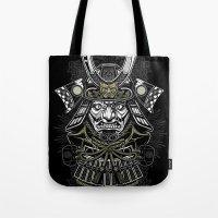 samurai Tote Bags featuring Samurai by Brewer Arts