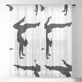 B&W Contortionist Sheer Curtain