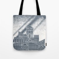 saturn Tote Bags featuring Saturn by David Fleck