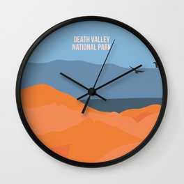 Winged Living Creatures Soaring High In Death Valley National Park Wall Clock