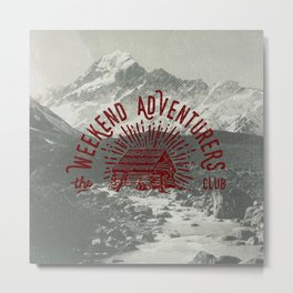 Weekend Adventurers Club Metal Print