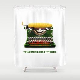 ORGANIC INVENTIONS SERIES: Vintage Smythe-Corn-A Typewriter Shower Curtain