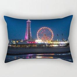 Blackpool Beach at Night Rectangular Pillow