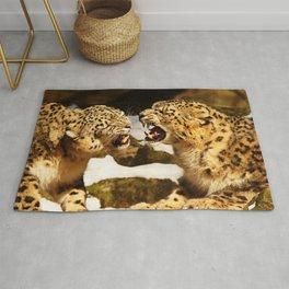 Snow Leopards Rug