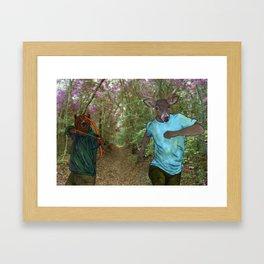 Bear Bow Hunting Framed Art Print