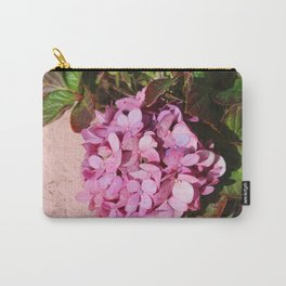 Pink Hydrangea Carry-All Pouch