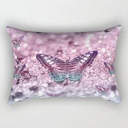 Pastel Unicorn Butterfly Glitter Dream #2 #shiny #decor #art #society6 Rectangular Pillow