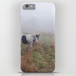 Black and White Horse iPhone Case