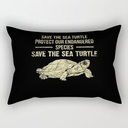 Endangered Species Of Sea Turtle Rectangular Pillow