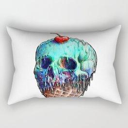 Ice Cream Skull Rectangular Pillow