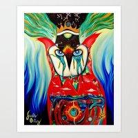 Guardian / Owl be watching You Art Print
