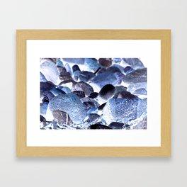 Jewelled Rocks Framed Art Print