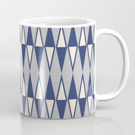 Mid Century Modern Diamond Pattern Blue and Gray 232 Coffee Mug