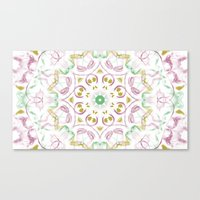 tye dye Canvas Prints featuring Kaleidoscope Tye Dye  by Skrinkladado
