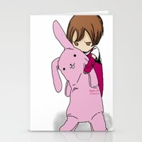 kawaii Stationery Cards featuring kawaii by Grim99