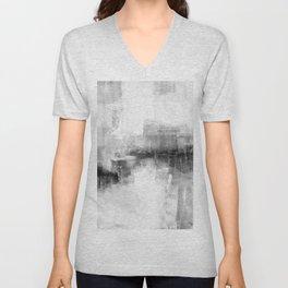 Gray abstract Unisex V-Neck