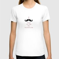 moustache T-shirts featuring Moustache by Natalie Reed