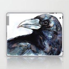 Raven, Watercolor Laptop & iPad Skin