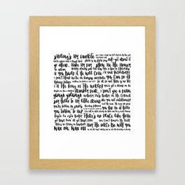 movie quotes Framed Art Print