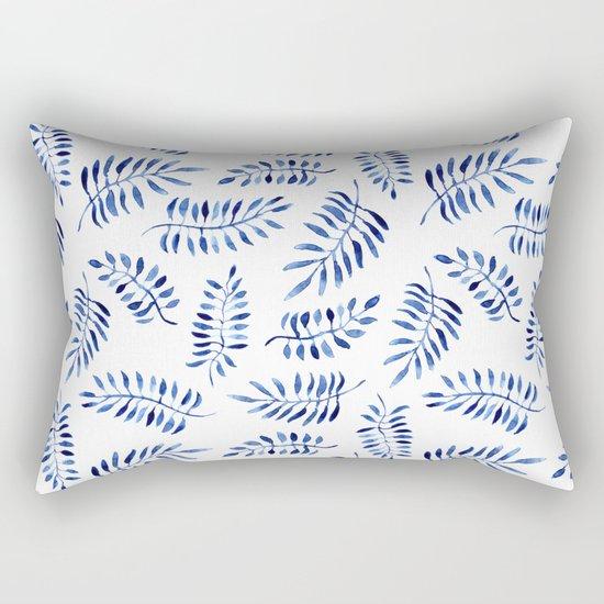 Blue nature || watercolor Rectangular Pillow