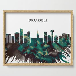 Brussels Skyline Serving Tray