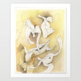 Banana Peelings Art Print