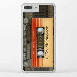 Awesome Guardian Cassette Vol 1 Clear iPhone Case