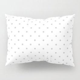 Small Light Grey Polka dots Background Pillow Sham