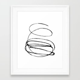 My mind is a mess. Framed Art Print